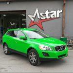 Total Dip na aute - svietivo zelená farba