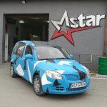 Total Dip na aute - modrá kamufláž
